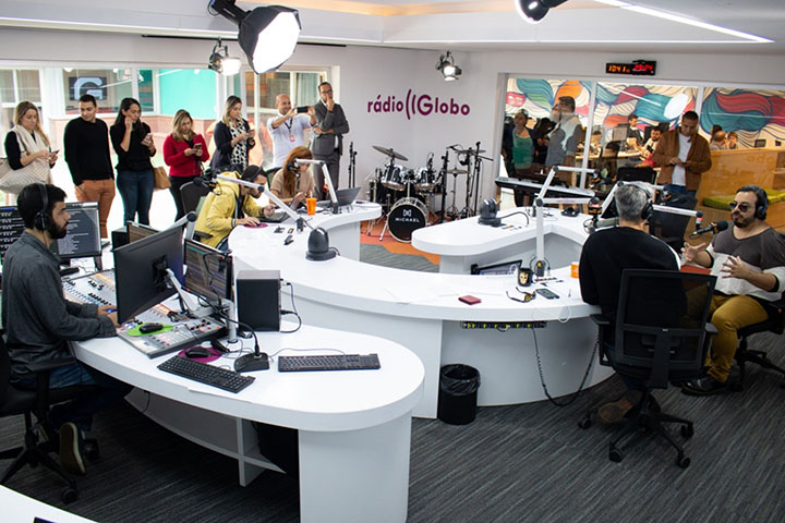 Workshop da Rádio Globo, no Projac