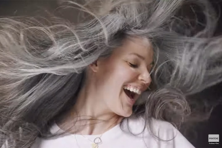"""Power of Grey"", da Grey London para a Pantene"