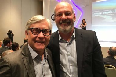 Clóvis Speroni e Mario Rigon no evento do SBT Rio