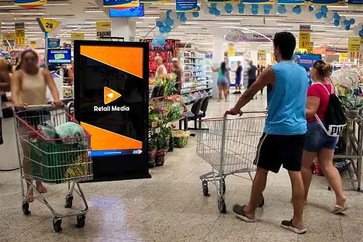 Retail Media - Telas em Supermercados
