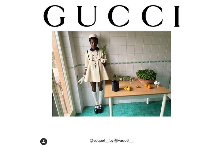 Gucci no Instagram