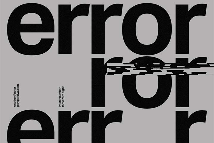 Error, by Gary Percival
